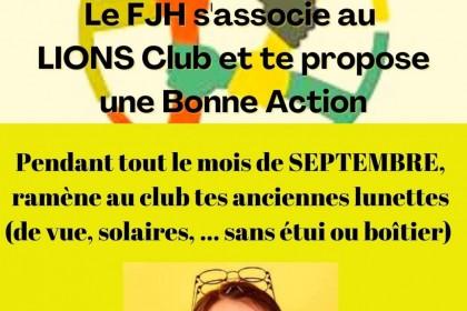 Le FJH s'associe au Lions club et te propose une bonne action !